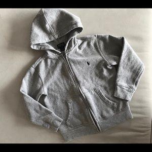 Front zipper POLO RALPH LAUREN BOY's HOODIE SZ 5